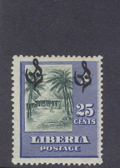 Liberia 1909, 25c village official, DOUBLE