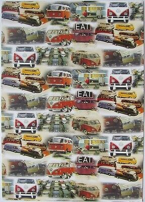 Pack of 15 New Vintage Ad Gallery Postcards: No 164 VW Campers