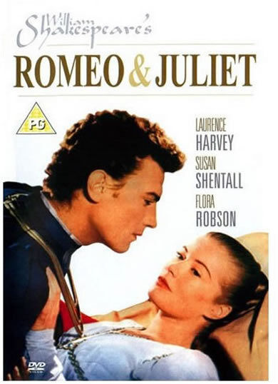Romeo And Juliet Shakespeare Laurence Harvey Flora Robson Susan Shentall DVD New
