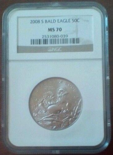 2008 S Bald Eagle Commemorative 50C (Half Dollar) Coin, NGC: MS 70. 2531080-039