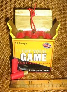 Cannon Falls Shotgun Shell Box of Shells Hunting Ornament NEW