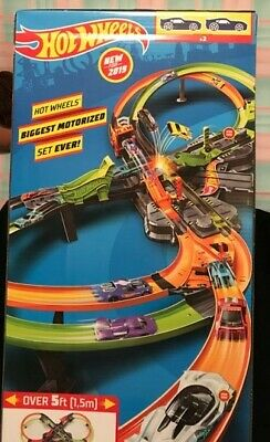 Hot Wheels Colossal Crash Track Set 2019 Over 5ft New Free Shipping