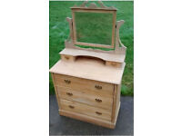 Antique Chest of drawers with mirror