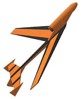 FLYING MODEL ROCKET KIT - Semroc Hawk KV-65 - Skill Level 1 - boost glider