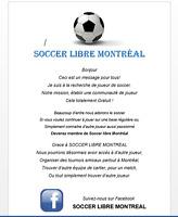Cherche joueur de soccer !!!