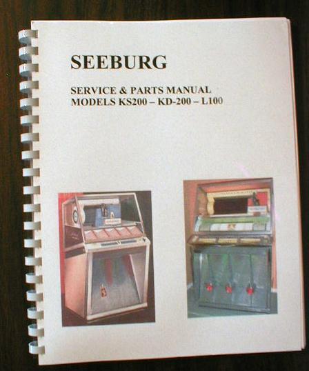 Seeburg KS200 - KD200 - L100  Jukebox manual