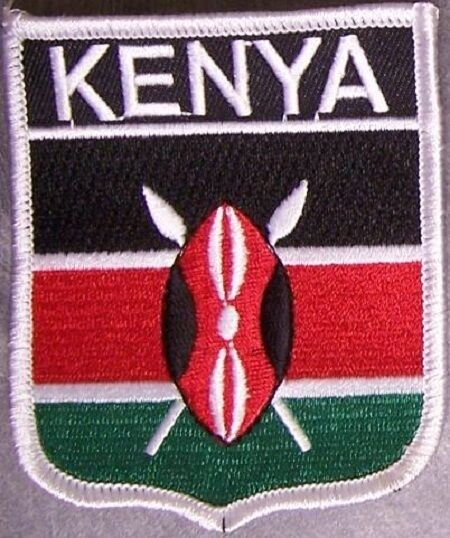 Embroidered International Patch National Flag of Kenya NEW bunting
