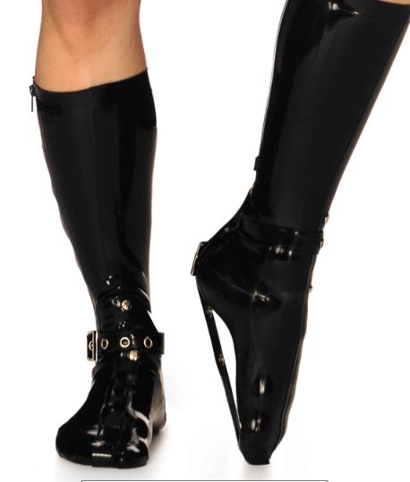 New style 100/% Latex Rubber Socks Five Socks 0.4mm Black Size S-XL