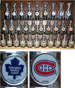 complete set of 30 nhl team mini stanley cups