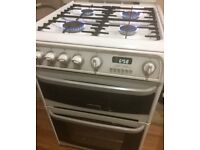 60cm Cannon double oven gas cooker 4 burners