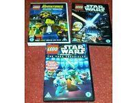 Lego dvd x 3