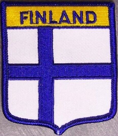 Embroidered International Patch National Flag of Finland NEW bunting
