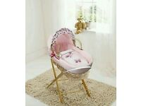 Kinder valley pink Butterfly moses basket. Brand new 5 left in stock.