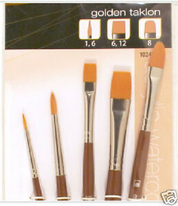 Loew Cornell STUDIO ELEMENTS 1024938 GOLDEN TAKLON Brush  1,6,6,12,8