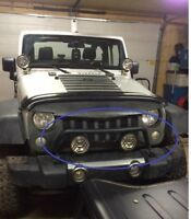 Jeep JK - Light bar with Aux lights/wire harness