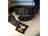 Men's Brown Fendi Belt with brown buckle