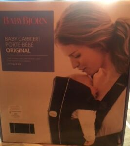 CARRIER, BABY BJORN BLACK COTTON.  **NEW IN BOX**