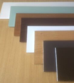 9mm Flat Soffit Skirting Plastic shower Board In White, Cream Grain, Chartwell Green, Rosewood Brown