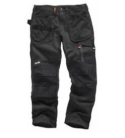 New with tags SCRUFFS Men's Regular 38in Waist, 81cm Long Grey Cotton, Polyester Trousers