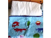 Cot bed duvet and cover set