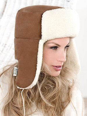 MERINO WOOL WOMENS, MENS, KIDS WINTER FULL RUSSIAN, USHANKA, EARFLAP TRAPPER HAT](Kids Russian Hats)