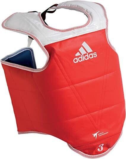 Adidas/MTX WT Taekwondo Body Protector Chest protector WTF TKD Red Blue (5 Pcs)