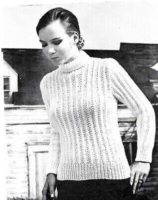 Vintage Knitting Pattern Lady/'s 1950s off-Shoulder//Scoop Neck Sweater//Jumper//Top
