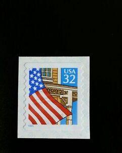 1995 32c Flag over Porch, SA Coil Scott 2915 Mint F/VF NH