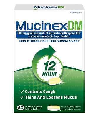 Mucinex DM 12 Hour Expectorant & Cough Suppressant : 40ct - exp. 1/21 or better Mucinex Dm Expectorant