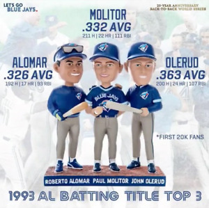 Blue Jays 25th Anniversary Trio Bobblehead (AlomarMolitorOlerud)