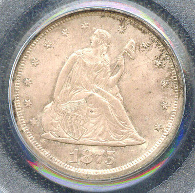 Click now to see the BUY IT NOW Price! 1875 S 20C MS65 PCGS   ONLY 74 IN HIGHER GRADE TWENTY CENTS