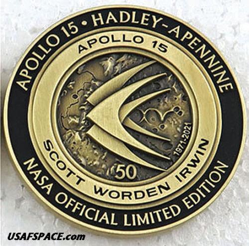 APOLLO-15 - 50th Anniversary - LUNAR FLOWN METAL - NASA MEDALLION - COA - MINT