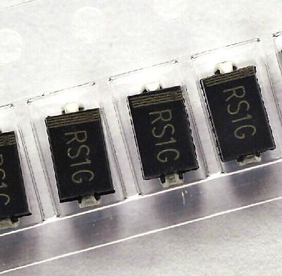 100pcs Fr104 Rs1g 1a 400v Sma Do-214ac Fast Recovery Diode Frd New