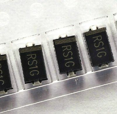 100pcs Fr104 Rs1g 1a 400v Sma Do-214ac Fast Recovery Diode Frd