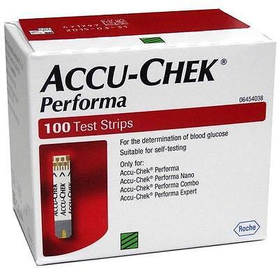 Accu-Chek Performa 100 Test Strips (No Chip) Exp. Jan. 31, 2018 Free Shipping