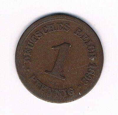 Kaiserreich 1 Pfennig 1892 F       (Alb 6)