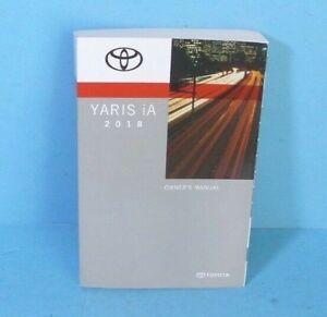 18 2018 Toyota Yaris iA owners manual