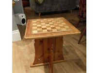 Luxury chess table, board and pieces