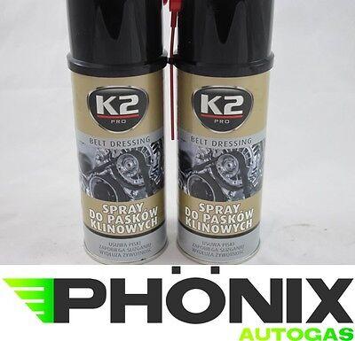 2x K2 Keilriemenspray Keilriemen Spray Belt Dressing 400ml