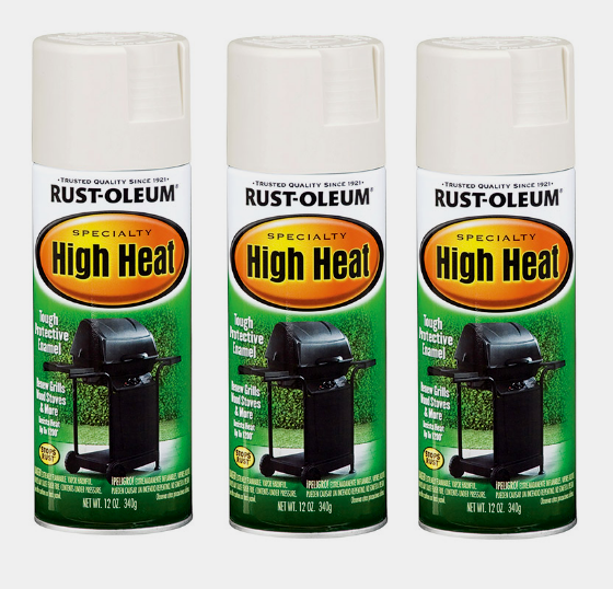 Rust-Oleum 7751830 High Heat Enamel Spray White 12-Ounce 1 P
