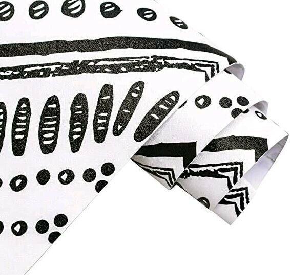 The Stripe Peel and Stick Wallpaper Black White Vinyl Self