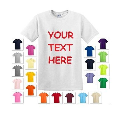 PERSONALIZED CUSTOM PRINT YOUR OWN TEXT ON A T-SHIRT CUSTOMIZED TEE MEN'S - Customes For Men