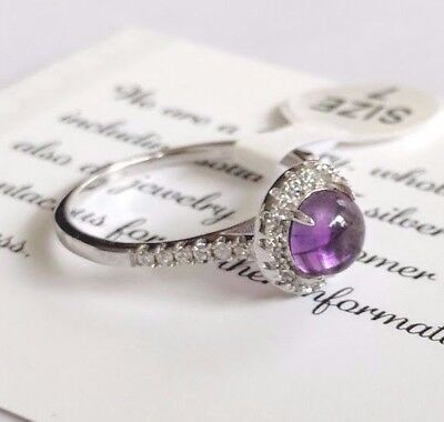 Natural Amethyst Genuine 925 Sterling Gemstone Jewelry Ring  Genuine Amethyst Gemstone Ring