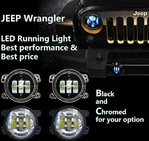 4 inch LED Fog lamp running light for Jeep Wrangler