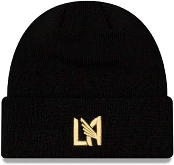 New Era LAFC Cuff Knit Beanie - Black-Gold