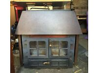 Hunter 14.5KW multi fuel wood burning stove