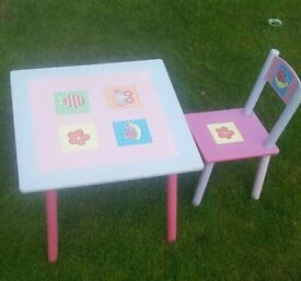 Children's table and chair