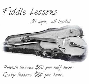 Fiddle & Violin Lessons - All ages and abilities!