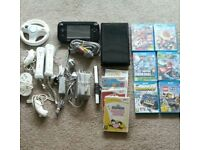 Wii u 32gb console and 6 games