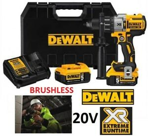 NEW DEWALT 20V MAX XR LITHIUM-ION 3-SPEED BRUSHLESS HAMMER DRILL